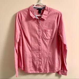 Pink boyfriend button down shirt